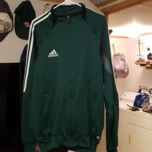 Adidas track jacket **Climacool** forest green **
